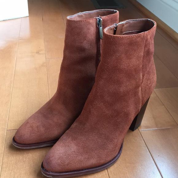 ff8f68f24958ea Sam Edelman rust suede boots- size 7.5. M 5b96c7920cb5aa69fdeb7170